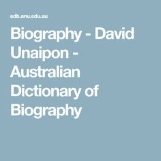 David Unaipon