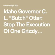 Butch Otter