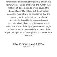 Francis William Aston